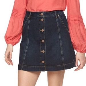 LC Lauren Conrad | Button Front Jean Skirt